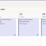 Step 2:  From Teams calendar select your meeting and find meeting options